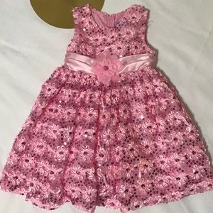 Rare Editions Toddler Pink Sequin Party Dress 2T